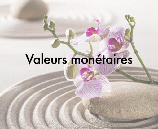 valeurs monétaires